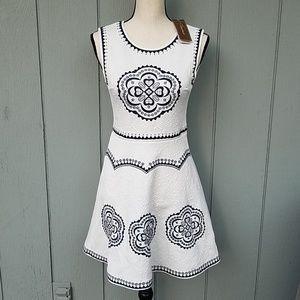 Francesca's Embroidered Sleeveless Dress